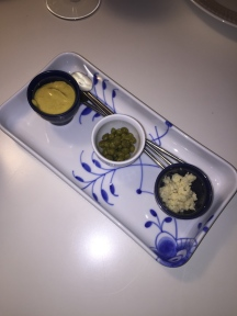Mustard, capers & horseradish - put on the table if you believe the tartare needed some more :)
